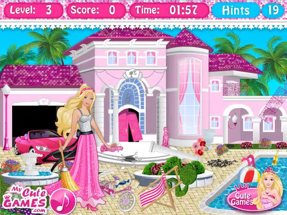 barbie dream house decorating games online
